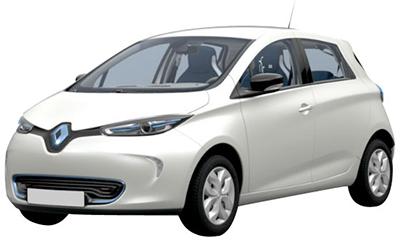 alquiler de coches eléctricos Renault Zoe
